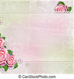 Beautiful wedding, holiday background with roses