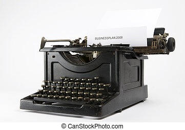 Business Typewriter - An old ancient typewriter used to...