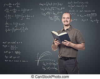 math teacher - portrait of young math teacher smiling