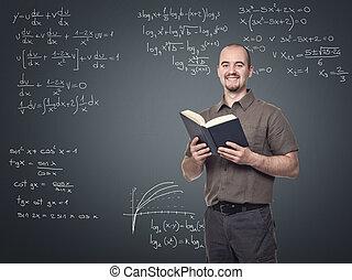 math teacher - portrait of young math teacher smiling