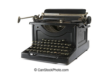 Old Typewriter - An old antique typewriter isolated on...