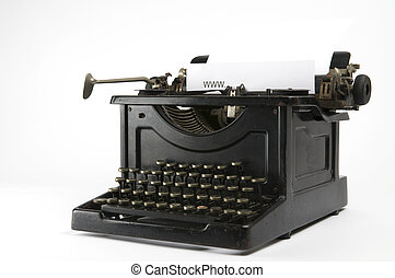 WWW Typewriter 2 - An old ancient typewriter is used to type...