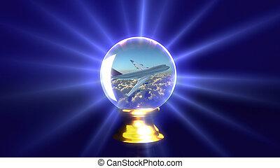 crystal ball plane