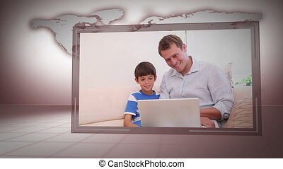 Videos of families with Earth image - Animation of families...