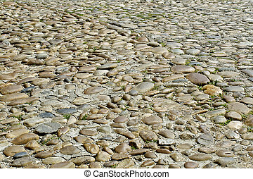 cobbled stone road