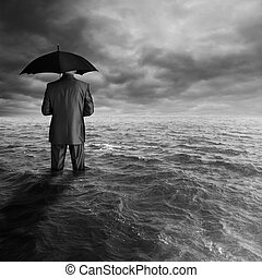 economic crisis - business depression concept, man with...