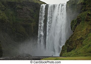 Skogarfoss waterfall, Iceland - A high resolution image of a...