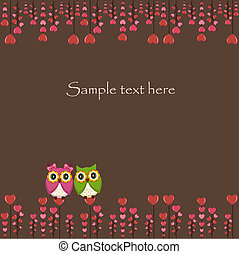 Two funny, love owls