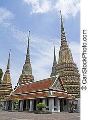 The pagoda at Wat Pho, Bangkok, Tha