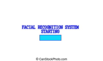 Facial recognition system - Animation of a facial...