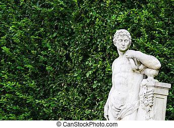 Schonbrunn palace in Vienna Austria - Garden statue