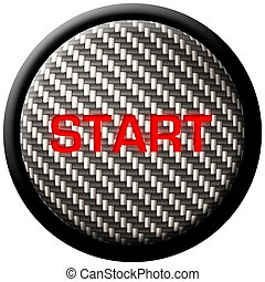 Carbon Fiber Start Button - A carbon fiber start button with...
