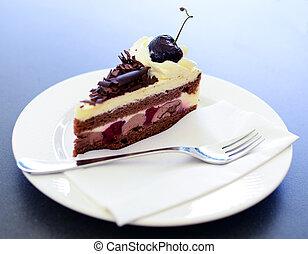 Schwarzwald cake closeup