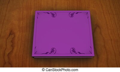 Violet book with children - Animation of a violet book with...