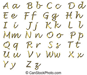 lucinda hand writing alphabet
