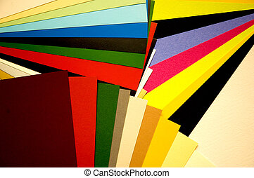 Color guide - Bright colorful sheets of paper