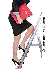 woman with a job application - a woman in business attire...