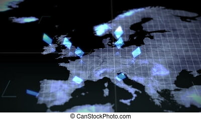 Video of a map Earth image courtesy - Animation of a map...