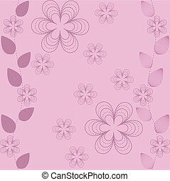 Abstract wallpaper from flowers