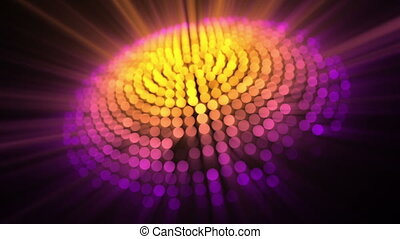 Circle of light yellow and purple