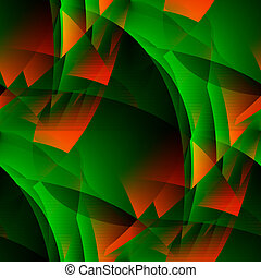 Green-fiery abstract - Seamless tile-able green-fiery...