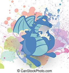 Vector fantasy dragon