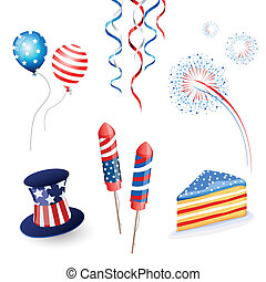 Vector Independence Day Set