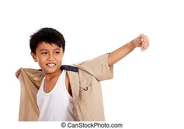 smiling nine year old child - smiling nine year old child...