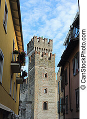 Sirmione - The Italian city Sirmione located on coast of the...