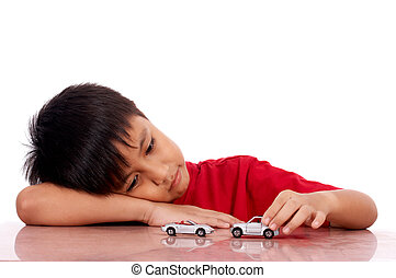 child lying on the table