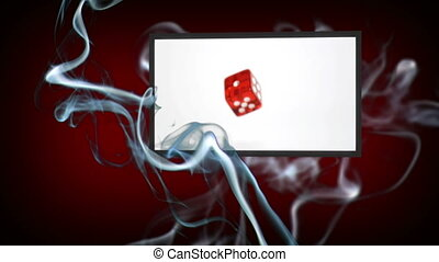 Video of dices - Animation of dices with smoke