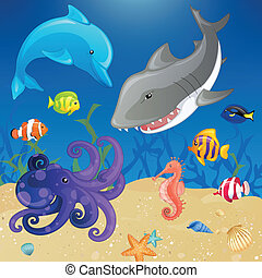 Vector Sea Creatures