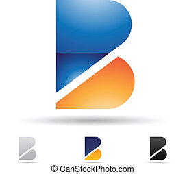 Abstract icon for letter B - Vector illustration of abstract...