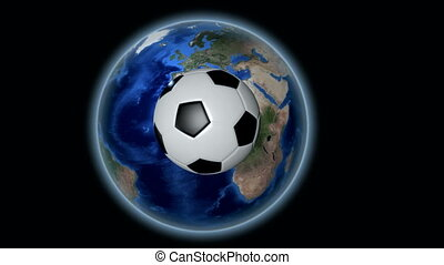 International soccer, football - Soccer ball bouncing from...