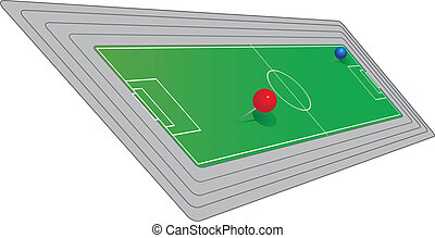 Field to play soccer - Scheme of the field to play soccer....