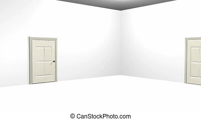 Making decisions - Choosing between two doors, one being the...