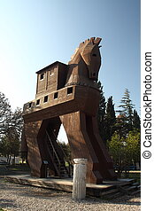 Trojan Horse - Model of the Trojan Horse in Troy, Turkey
