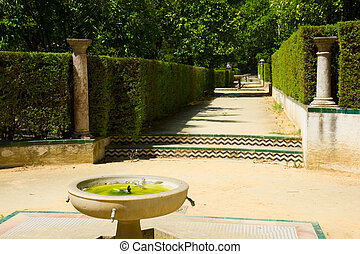 Garden of the Poets, Alcazar Palace, Seville, Spain