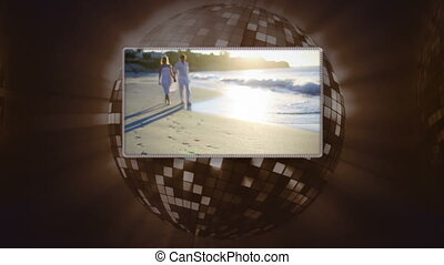 Video of couple on the beach - Animation of couple on the...