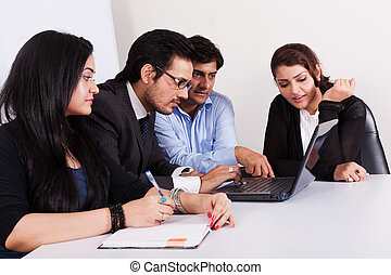 group of young multi racial business people in meeting