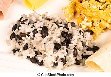 Full gallo pinto breakfast - Full gallo pinto breafast with...
