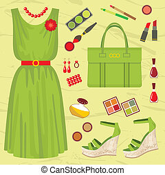 Fashion set - Vector illustration It is created in the...