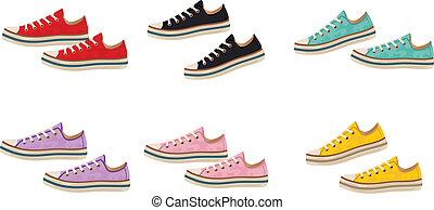 Sneakers - Vector illustration It is created in the...