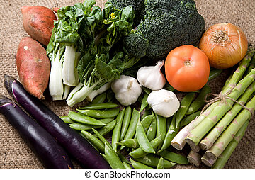 Vegetables - A shot of variety of fresh vegetables