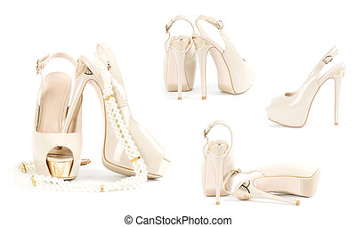 Sexy fashionable shoes isolated