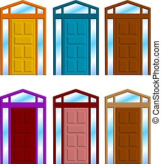 door frame - a vector illustration for a group of door frame