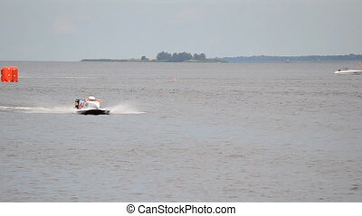 Formula 1 H2O - VYSHGOROD, UKRAINE - JULY 20 : Powerboat F1...