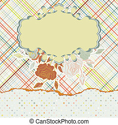 Design with colorful label on light fabric. EPS 8