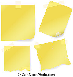 Sticky Note Icon - colored illustration, Vector