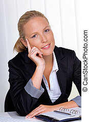 successful business woman in office - a young, successful...